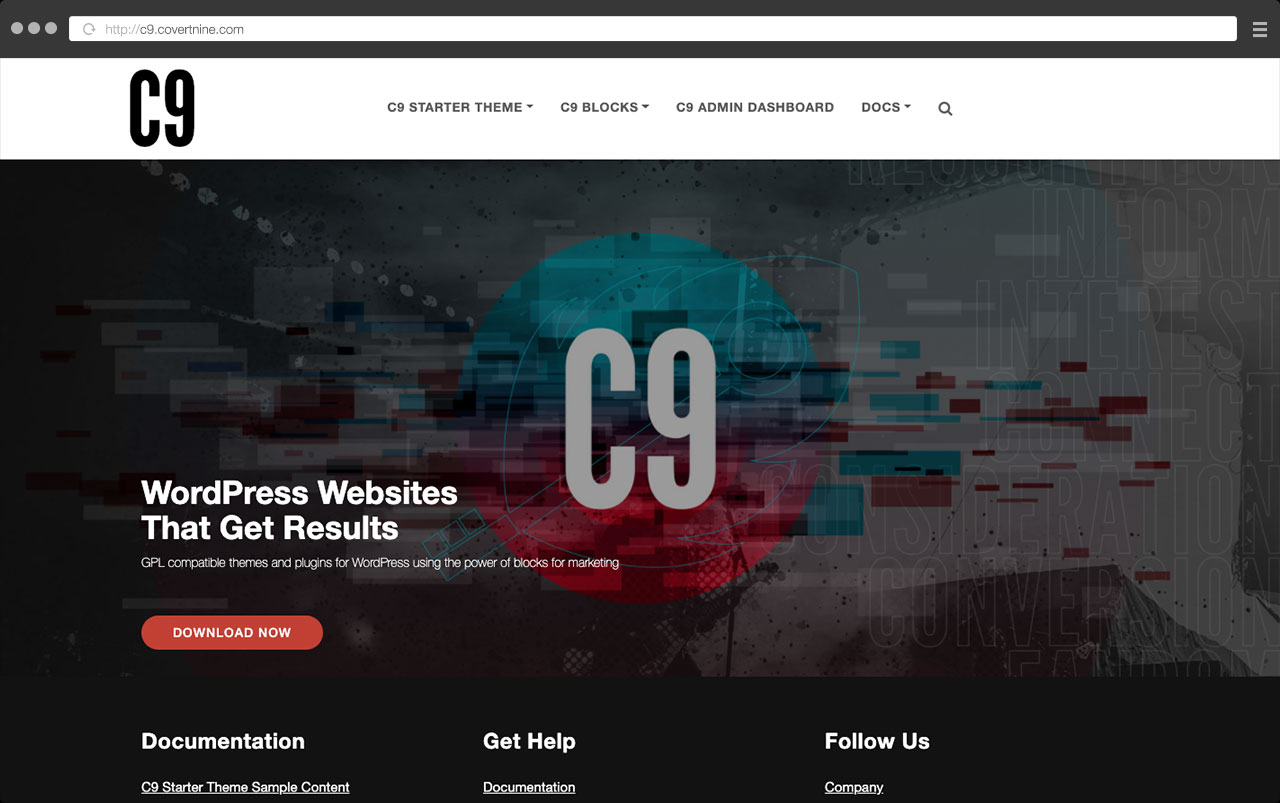 C9 Starter WordPress Theme powered by C9 Blocks Plugin